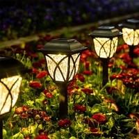 landscape solar garden lawn lamp glass pathway light lampe luces solaire exterieur luz foco jardin fairy patio navidad outdoor