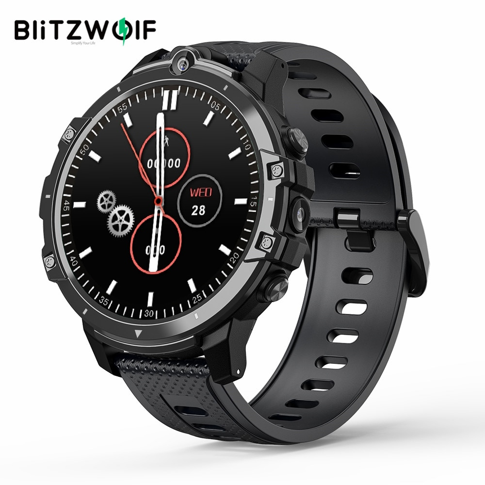 Promo BlitzWolf BW-BE1 relógio smartwatch GPS Android 7.1 3G+32G 4G-LTE Face Unlock relogio masculino smart bracelet fitness band