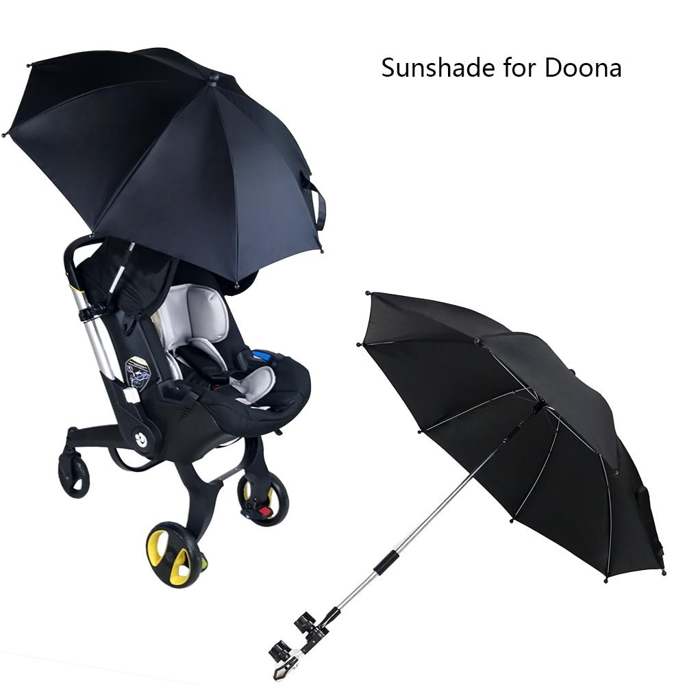 аксессуары для автокресел doona пристяжной отсек для хранения для автокресла коляски doona Новый Зонт для детской коляски DOONA UV 50 + чехол от солнца на коляску, аксессуары для коляски, солнцезащитный козырек