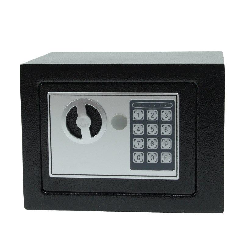 Цифровой Сейф, маленький бытовой мини-Сейф из стали, сейф для денег, сейф для надежного хранения наличных украшений или документов с ключом