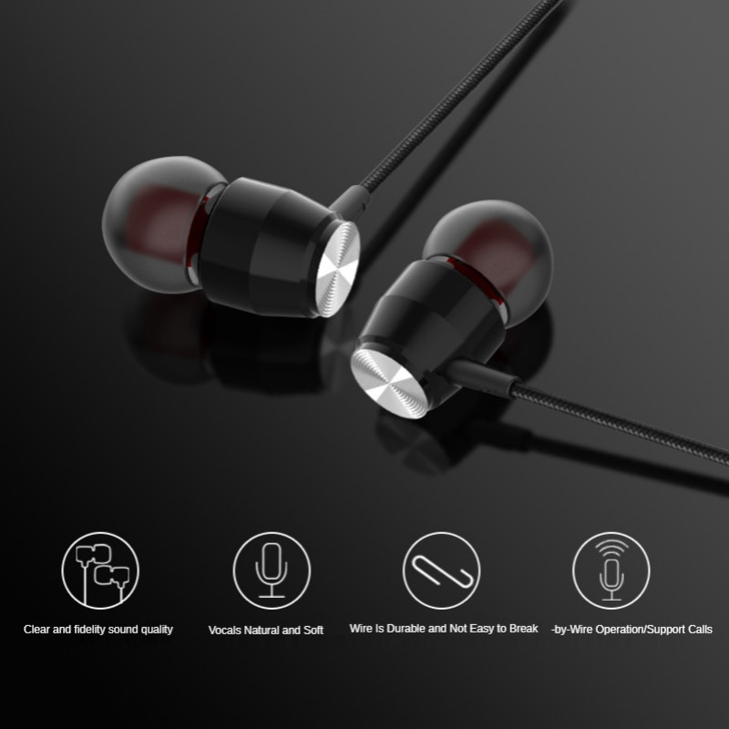 3.5mm Inear Earphone Wired Control Earbud With Mic Gaming Headset For xiaomi Smart Phone Earphone Sport Music Headset enlarge