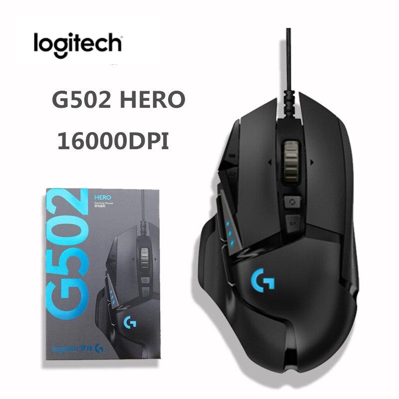 Оригинальная игровая мышь Logitech G502 Hero Wire 16000DPI, высокая производительность, Электронная Спортивная игровая мышь LIGHTSPEED