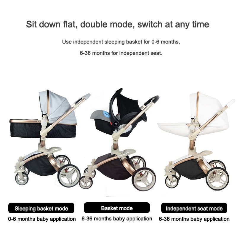 Baby Stroller Winter and Summer use  Can Sit Reclining High Landscape Shock Folding Stroller baby accessories  baby carriage enlarge