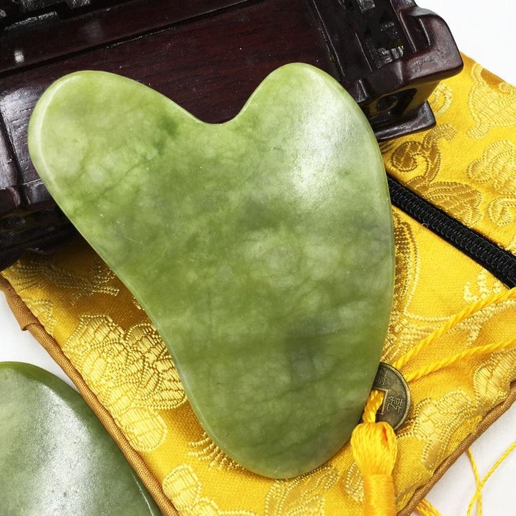 Natural Jade Guasha Massager Stone Gua Sha Board Beauty Tool Health Care Guasha Scraper Face Lifting