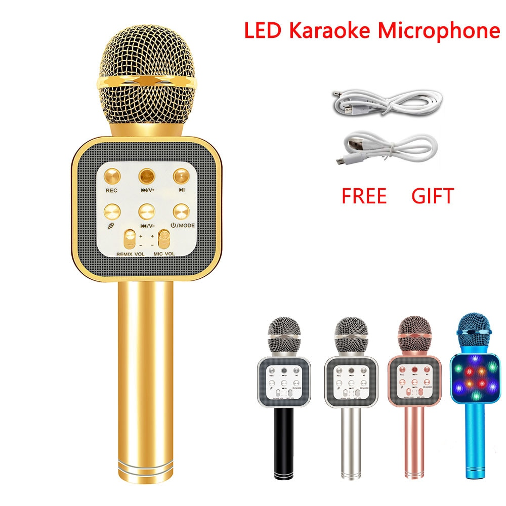 WS1818 moda KTV micrófono inalámbrico de mano altavoz reverberación voz condensador grabación Karaoke sonido envolvente en vivo