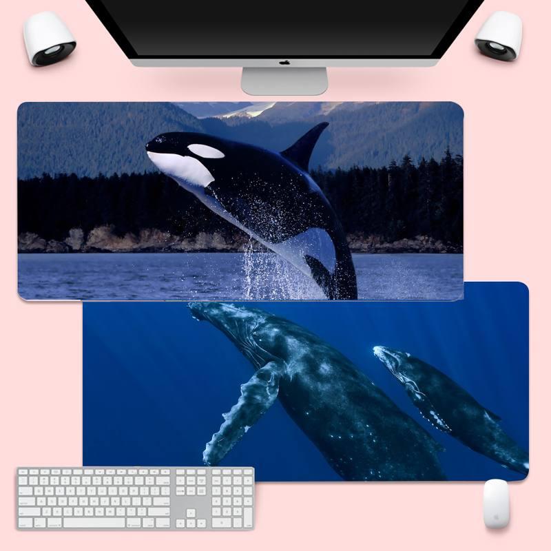 Кит, блокированный край, Мышь игровой коврик Мышь коврик XL большая клавиатура PC стол коврик Takuo анти-скольжения Удобная подкладка