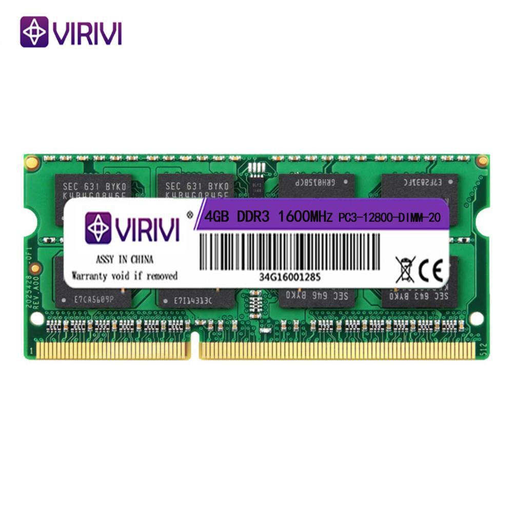 VIRIVI DDR3 DDR4 2G 4GB 8GB 1333 1600 1866 2133 2400 2666Mhz SO-DIMM 1.35V 1.5V 1.2V Notebook RAM 204Pin Laptop Memory core kit