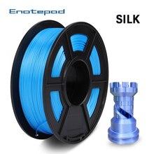 Enotepad soie PLA Filament 1.75mm bobine 1KG/rouleau bonne ténacité couleur soie Fialment pour tous les Types dimprimantes FDM3D