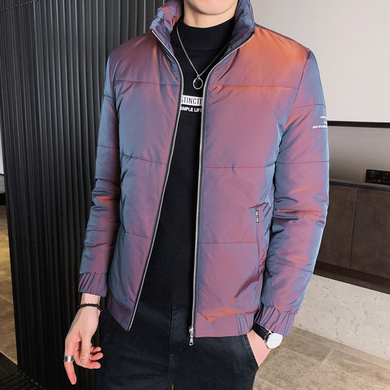 Winter Jackets Men Parkas Long Sleeve New Parkas Warm Cotton Quilted Coat Jacket Men's Coat male winter coats youth clothing