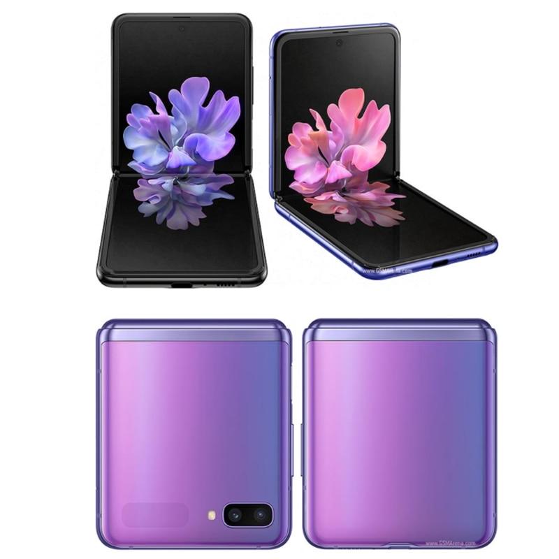 Фото4 - Оригинальный Samsung Galaxy Z Flip F7000 【 100% новый разблокированный складной экран с двумя Sim-картами 6,7 дюйма 8 ГБ ОЗУ 256 Гб ПЗУ NFC Snapdragon