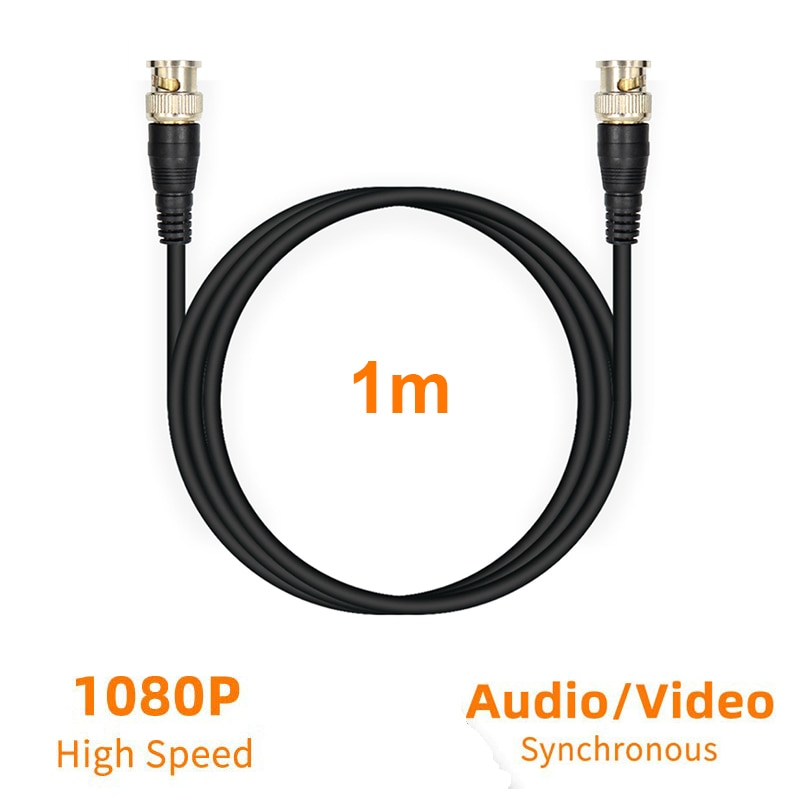 1 stücke BNC Kabel 1080p HD 3G HD SD SDI für cctv kamera monitor Sicherheit System 75Ohm RG59 koaxial Kabel