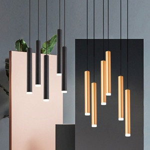 Thrisdar 3W Nordic Long Tube LED Pendant Light Island Shop Bar Cafe Pendant Lamps Dining Room Kitchen LED Hanging Light