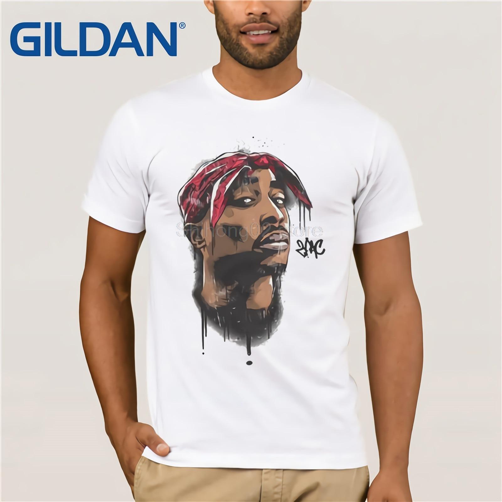 2 Pac Cartoon T Shirt,2PAC Vinyl Home Decor Wall Decal Tshirt,Short-Sleeve,unisex T-Shirt