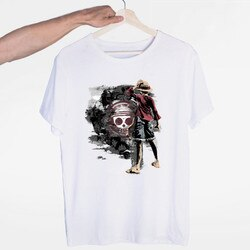 Uma peça luffy ace sabo lei zoro e nami asiático t-shirts o-pescoço manga curta verão moda casual unisex camiseta