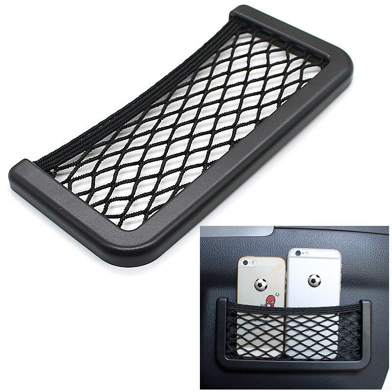 Para KIA CEED ED JD CD CEI D SW GT 2010-2019 bolsa de almacenamiento de la red del asiento del coche soporte del teléfono asiento del coche malla organizador bolsillos de la red del maletero