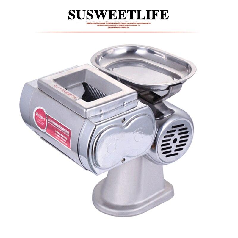 SUSEETLIFE-قواطع كهربائية منزلية صغيرة ، كبد خنزير وسمك ، تقطيع شرائح دجاج تجارية متعددة الوظائف ، slicer220V