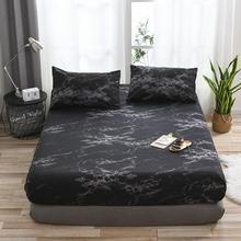 6 couleurs classique marbre motif couvre-lit drap housse pour lits élastique maison Textile Twin/Full/Queen/King ensemble de couverture de lit