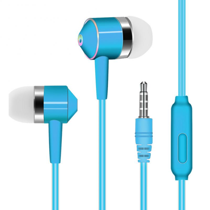 In-ear mobile phone headset line control subwoofer with wheat earphones universal