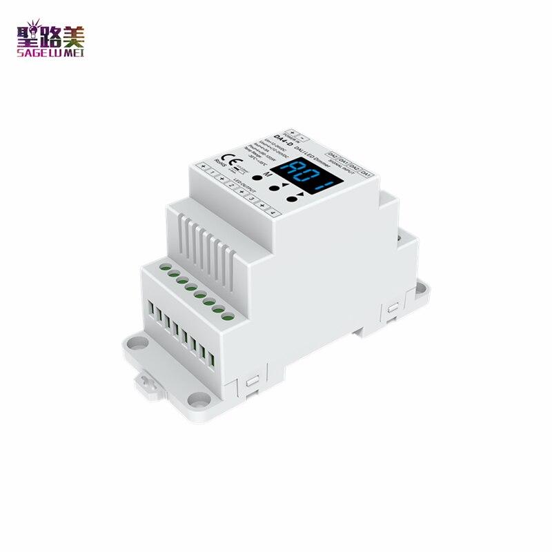 DA4-D 12-24VDC, 4 canales, carril Din, voltaje constante, regulador LED DALI, PMW, atenuación 4 x (60-120)W 4 CH,5A/CH