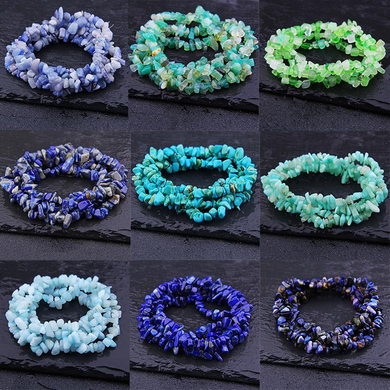 Sodalite Aquamarin Lapis lazuli Freeform Chip 5-8mm Natural Stone irregular Beads Gravel Bead Diy Supplies For Jewelry Making