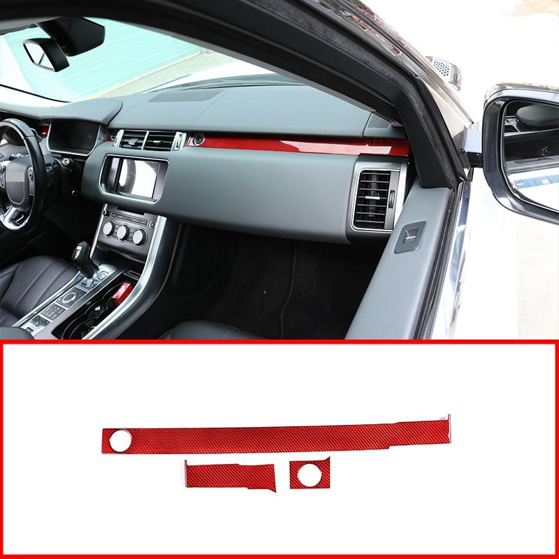 Decoración para pasajeros de fibra de carbono roja Real 100%, para Range Rover Sport RR 2014-2019, accesorios para mano izquierda