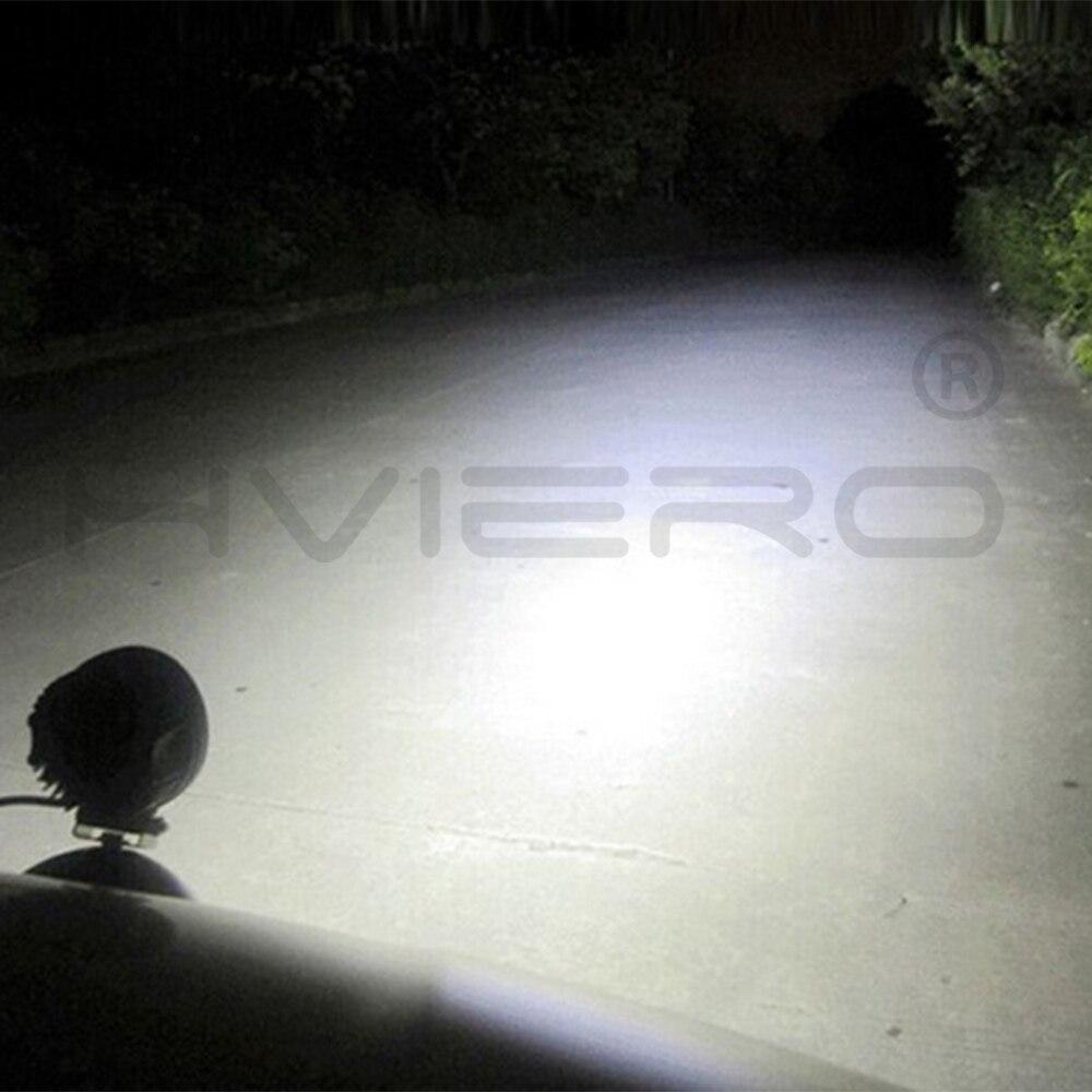 1Pcs White 4inch 27w Square Round Led Work Light 4x4 Auto Trucks Flood Spot Beam Auto LED Headlights Off-road Vehicle Headlights enlarge