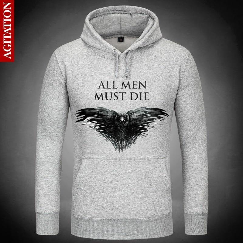 Game of Thrones Dark Hints Death Hoodies Hoody Pullover Sweatshirt  Sweatshirts Outerwear Clothes Coat  three eyed raven