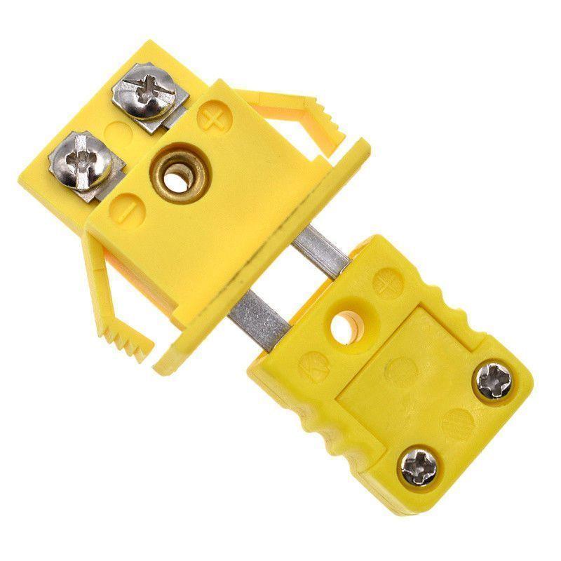 Mini Tasca Tipo K Termocoppia Presa y Pannello Montaggio Adattatore Connettore