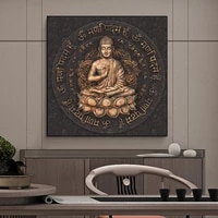 buddha statue of sakyamuni canvas painting religion modern poster and prints wall art pictures for living room home decoration
