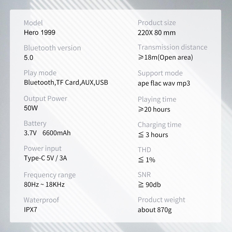 Xdobo 50W Music Column Portable Smart Tweeter Bluetooth Speaker With Alice,Deep Bass Subwoofer Wireless Soundbar Audio System enlarge