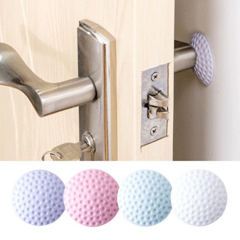 1pc parede espessamento mute porta pára-choques golfe estilo de borracha fender lidar com fechadura da porta proteção almofada de parede casa adesivo