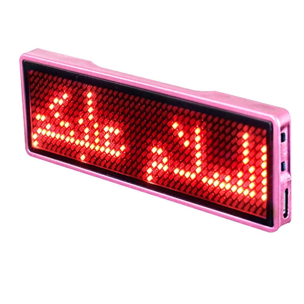 Señal de mensaje recargable tarjeta de visita portátil desplazamiento Digital programable LED etiqueta de nombre Mini insignia de Hotel evento publicitario