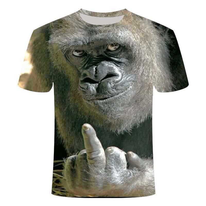Camiseta con estampado 3D de orangutn/Mono para hombre y camisetas divertidas de...