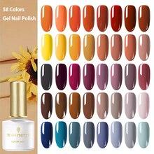 BORN PRETTY automne série Gel à ongles 58 couleurs jaune Orange couleur des ongles tremper hors UV Gel vernis à ongles 6ml pour la manucure bricolage