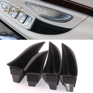 Reamocea 4x Car Front Rear Side Door Storage Box Container Holder Tray Fit For Mercedes Benz S-Class 2014 2015 2016 2017 2018