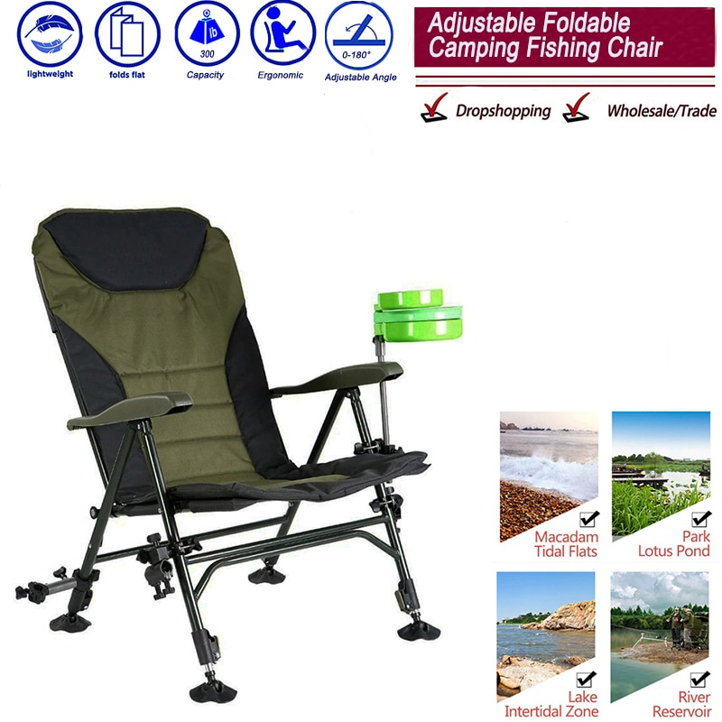 Beach With Bag Portable Folding Chairs Outdoor Picnic BBQ Fishing Camping Chair Seat Oxford Cloth Li
