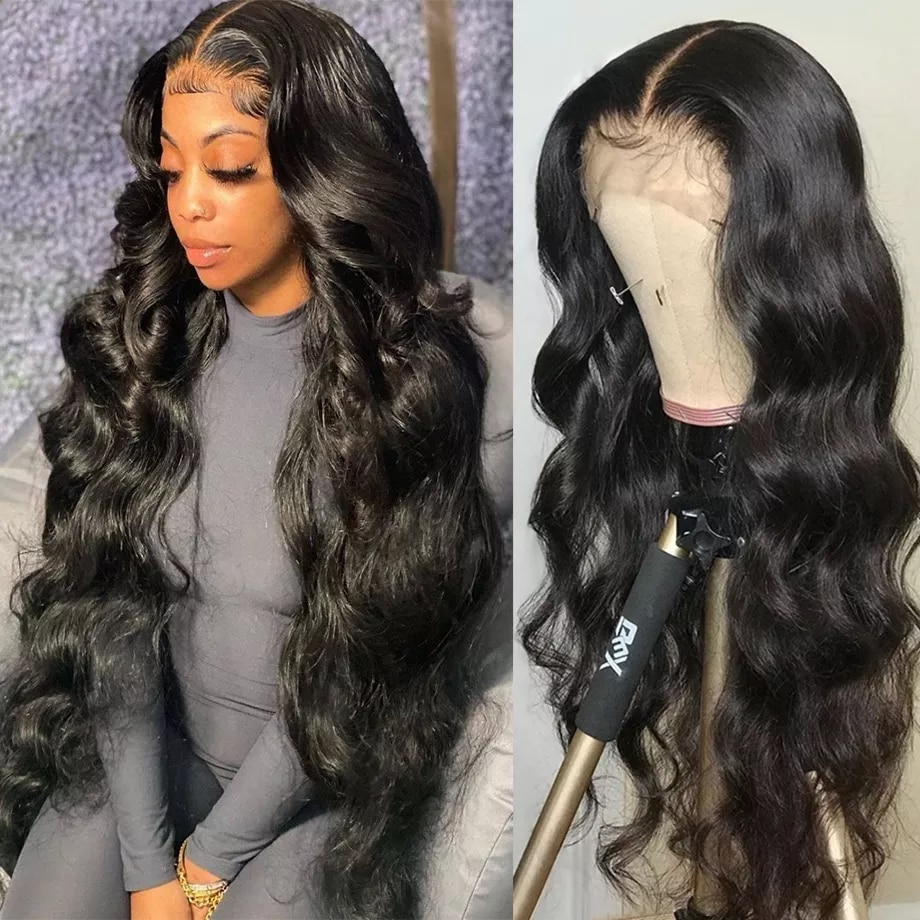 Brazilian Human Hair Wigs 4x4 5x5 6x6 Transparent Water Wave Wigs 13x6 HD Lace Front Human Hair Wig Promqueen Wig For Woman