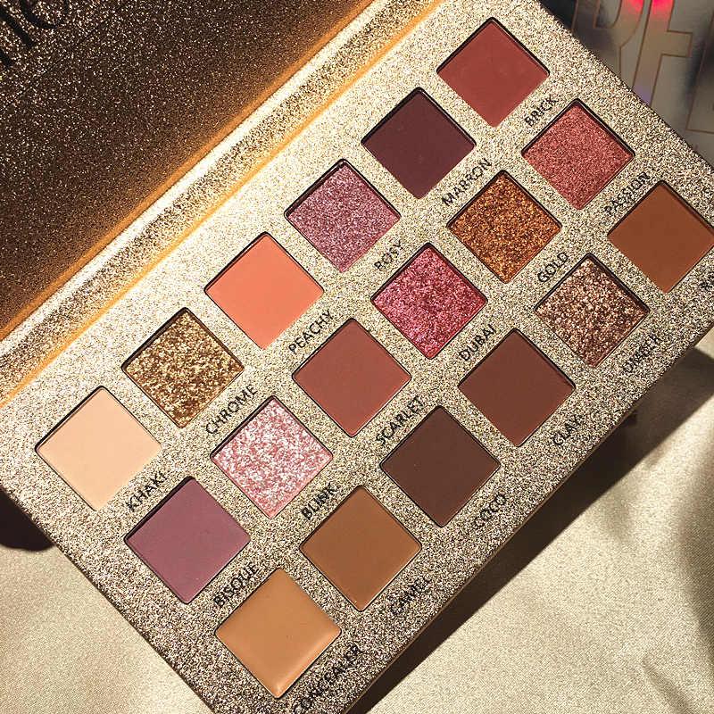Beauty Glazed-paleta de sombras de ojos, brillo mate, 18 colores, maquillaje, pigmento, paleta de sombras de ojos humeantes, resistente al agua, Cosméticos TSLM1
