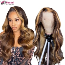 P4/27 Highlight Wig Brazilian Body Wave Wig Lace Front Human Hair Wigs For Black Women Honey Blonde