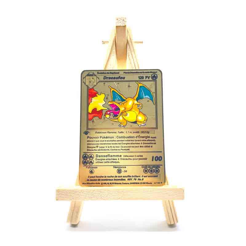 pokemon cartoes pv frances anime pokemon ouro metal cartao v vmax mewtwo dracaufeu
