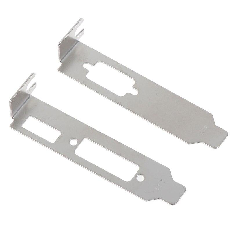 2pcs/ set Low Profile Bracket Adapter HDMI DVI Port For Half Height Video Card Set