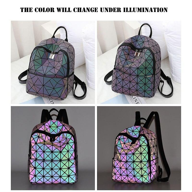 Светящийся рюкзак, Женский светоотражающий рюкзак, женский геометрический рюкзак, Женский дорожный рюкзак, школьный рюкзак EB10093
