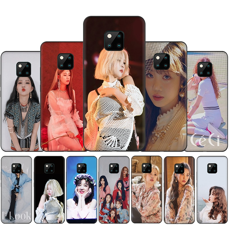 Silicone caso de telefone para huawei y5 y6 y7 y9 prime mate 10 20 30 lite pro capa traseira (g) I-DLE k pop
