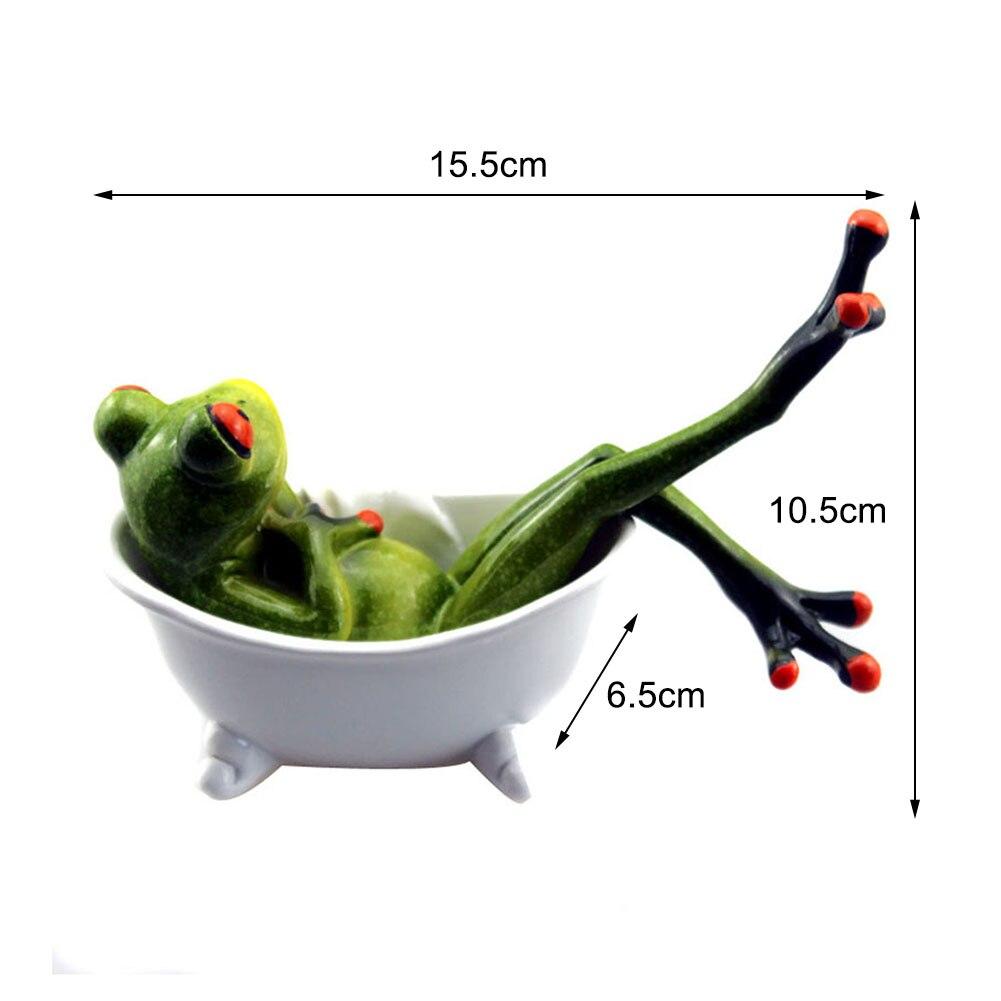 11 Styles 3D Mini résine grenouille verte Figurine Statue mignonne artisanat ornements décoration de la maison pour salon fenêtre jardin