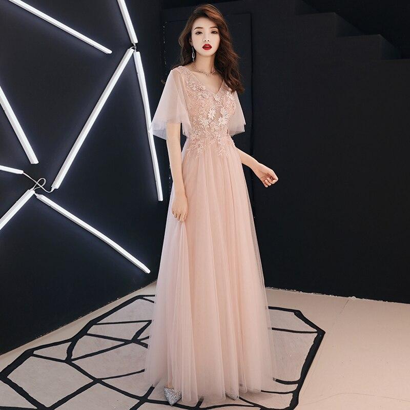 Китайское платье qipao, платья принцессы, шифоновые пляжные платья, элегантное розовое свадебное Сетчатое платье с аппликацией, Благородное ж...