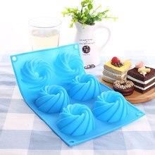 Moule à Cupcake en Silicone   Poêle à gâteaux en forme de tourbillon, moule de cuisson à Muffin décoration moule à Cupcake