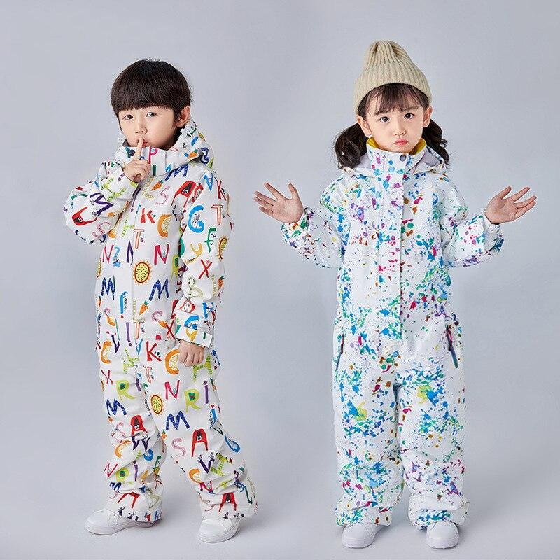 Dollplus niños esquí traje de nieve mono Snowboard esquí chaqueta niña niño ropa deportiva pantalones de invierno conjunto traje ropa