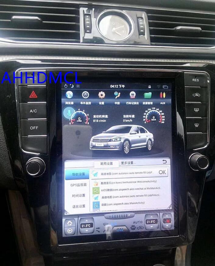 Tesla estilo multimídia player android carro estéreo gps automóvel pc almofada para passat b8 edição ca 2015 2016 2017 2018 2019