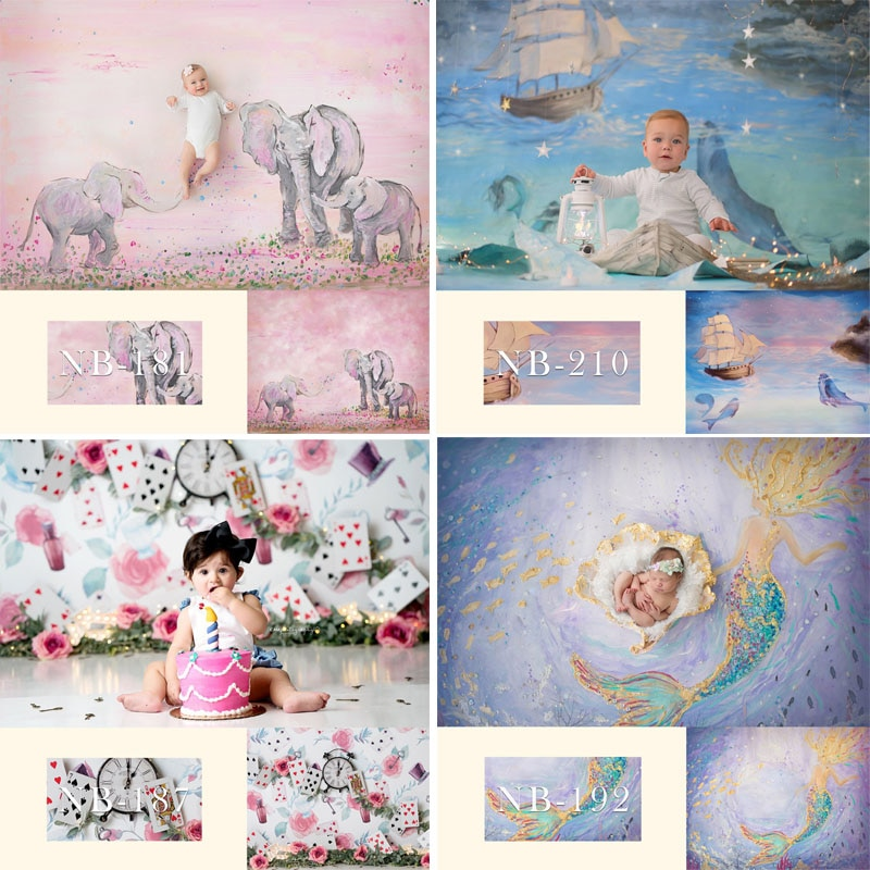 Newborn Baby Photography Backdrops Customized Shower Birthday Party Photo Backdrop children Backgrounds For Studio