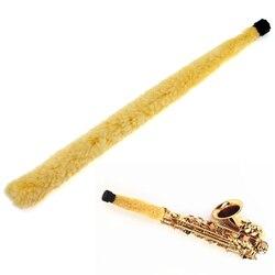 Acessório de limpeza para saxofone, instrumentos e peças de limpeza de alto saxofone, fibra macia, amarela, durável, alto sax